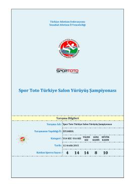 Kızlar Yürüyüş Sonuçlar - Türkiye Atletizm Federasyonu
