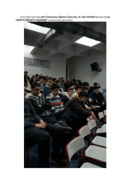 """""""KENTTE BİRLİKTE YAŞAMAK"""" seminerinden görüntüler"""