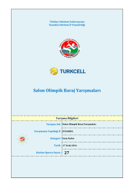 Genç Kadınlar - Türkiye Atletizm Federasyonu