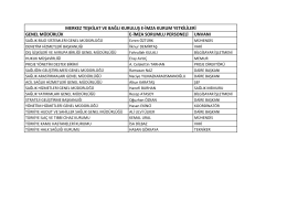 merkez teşkilat ve bağlı kuruluş e-imza kurum yetkilileri genel