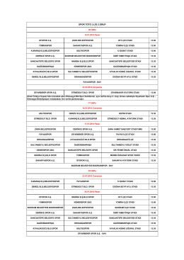 SPOR TOTO 3.LİG 2.GRUP - Türkiye Futbol Federasyonu