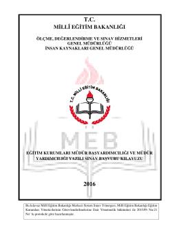T.C. 2016 - Çanakkale İl Milli Eğitim Müdürlüğü