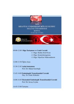 XIX. KRANİAL ENDOSKOPİ BÖLGE KURSU