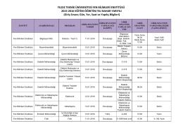 2015-2016 bahar lisansüstü giriş sınavı jürileri