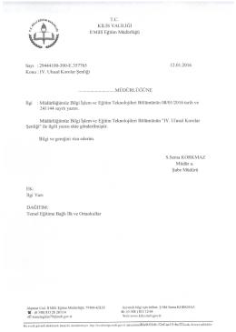 kılıs valilığı - Kilis Milli Eğitim Müdürlüğü