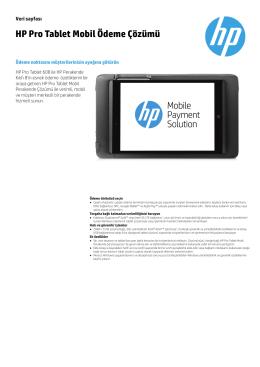 HP Pro Tablet Mobil Ödeme Çözümü