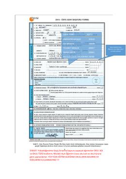 2016 – ÖSYS Örnek Doldurulmuş Aday Başvuru Formu için tıklayınız.