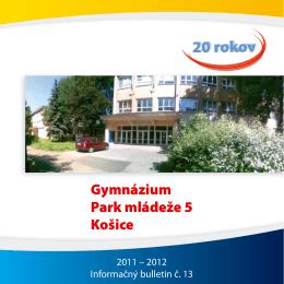 Gymnázium, Park mládeže 5, Košice