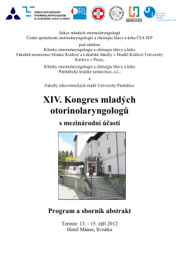 Program a sborník abstrakt - Česká lékařská společnost Jana