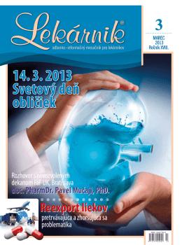 Lekarnik 03_2013.indd - Slovenský spolok študentov farmácie