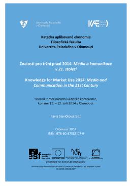 Znalosti pro tržní praxi 2014 - Filozofická fakulta