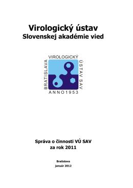 Správa o činnosti organizácie SAV