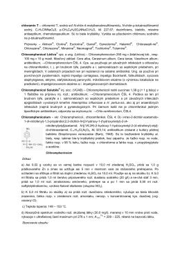 chloramín T – chloramid T, sodná soľ N-chlór-4