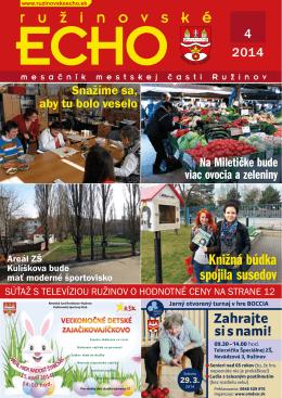 2014 - Ružinovské ECHO