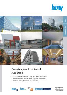 Aktuálny cenník výrobkov 2014 na stiahnutie