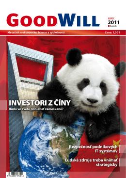 INVESTORI Z ČÍNY