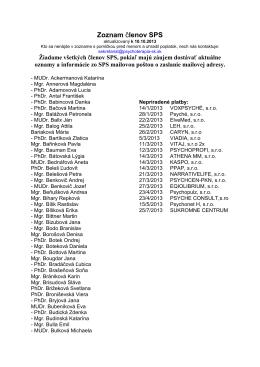 Zoznam členov SPS
