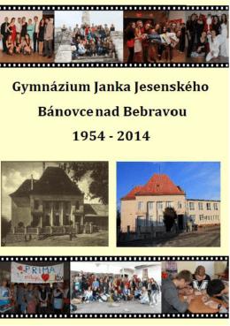 Bulletin Gymnázia Janka Jesenského v Bánovciach nad Bebravou