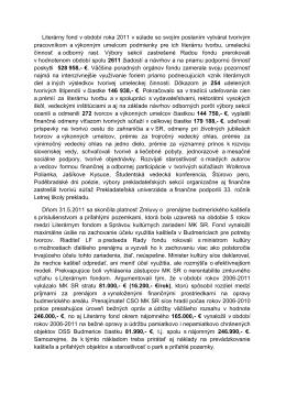 Výbor Sekcie pre pôvodnú literatúru