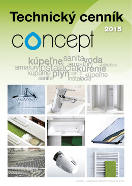 Technický cenník Concept 2015