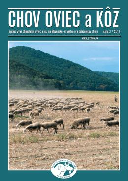 Číslo 03/2012 - Zväz chovateľov oviec a kôz na Slovensku