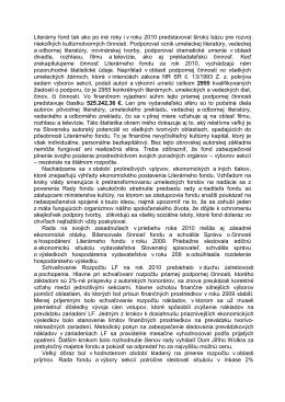 Správa LF 2010 www.stránka