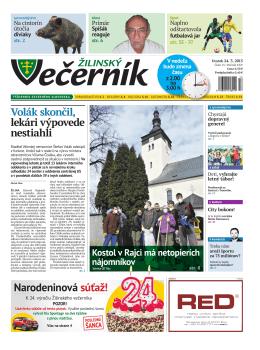 Žilinský večerník, rok 2015, číslo 13