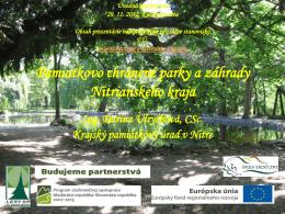 Pamiatkovo chránené parky a záhrady Nitrianskeho - HU
