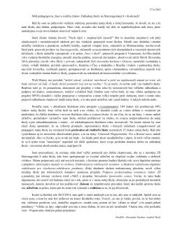 Príhovor riaditeľa školy na slávnostnom ukončení šk. r. 2013/2014