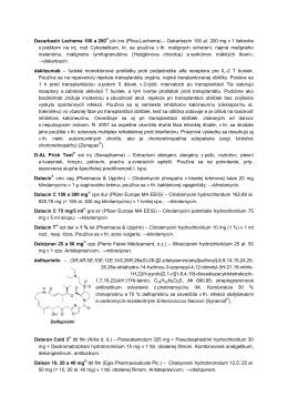 Dakarbazín 100 al. 200 mg v 1 liekovke s práškom