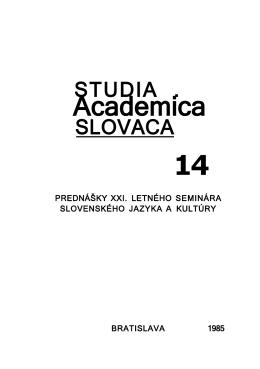 Academica - Zborníky Studia Academica Slovaca