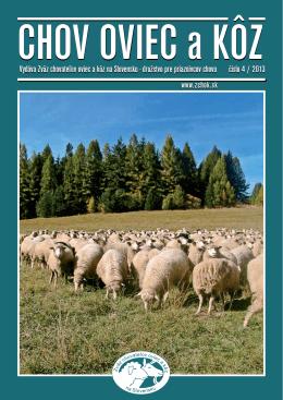 Číslo 04/2013 - Zväz chovateľov oviec a kôz na Slovensku