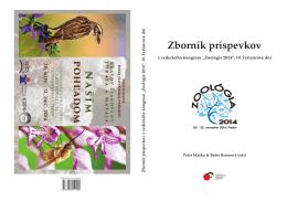 zborník Zoológia 2014 - Conference system