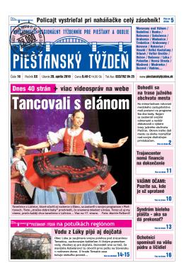 Tancovali s elánom - Piešťanský denník