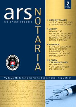 ars notaria 14-02 - Notárska komora Slovenskej republiky