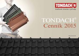 Cenník Tondach od marca 2015
