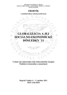 zborník 2011 - Žilinská univerzita