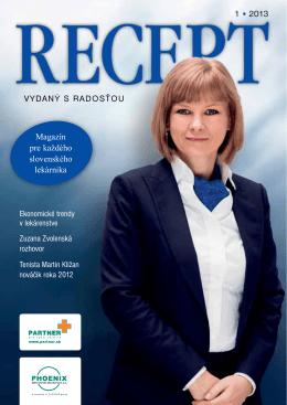 VYDANÝ S RADOSŤOU Magazín pre každého slovenského lekárnika