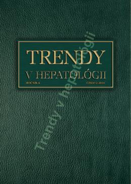 Trendy v hepatológii - Slovenská hepatologická spoločnosť