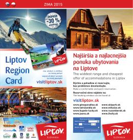 Zľavy s LIPTOV CARD