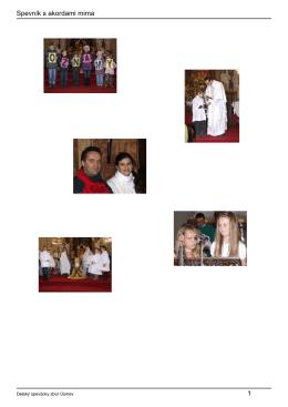 Zborový spevník s akordami - Farnosť Nanebovzatia Panny Márie