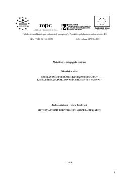 Učebný zdroj č. 3- Metódy a formy podporujúce