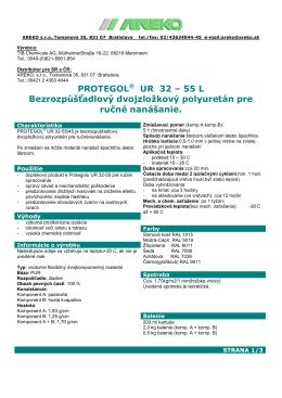 Technický list materiálu Protegol 32-55L