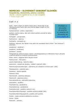 P - Nemecko-slovenský odborný slovník