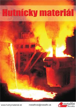 Hutnícky materiál - METALFIN Slovakia, sro