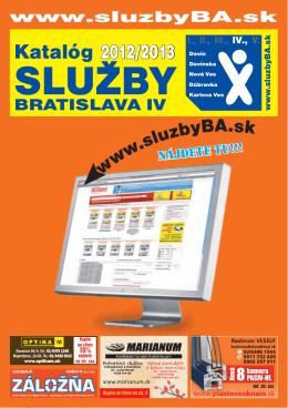 Katalóg 2012/2013 - Služby Bratislava