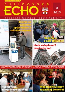 2013 - Ružinovské ECHO