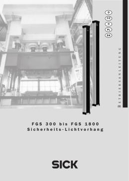 FGS 300 bis FGS 1800 Sicherheits-Lichtvorhang