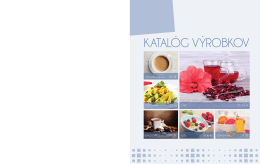 KATALÓG VÝROBKOV - AG FOODS Group as
