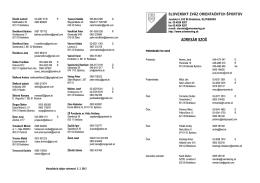 Adresár SZOŠ vo formáte PDF - Slovenský zväz orientačných športov